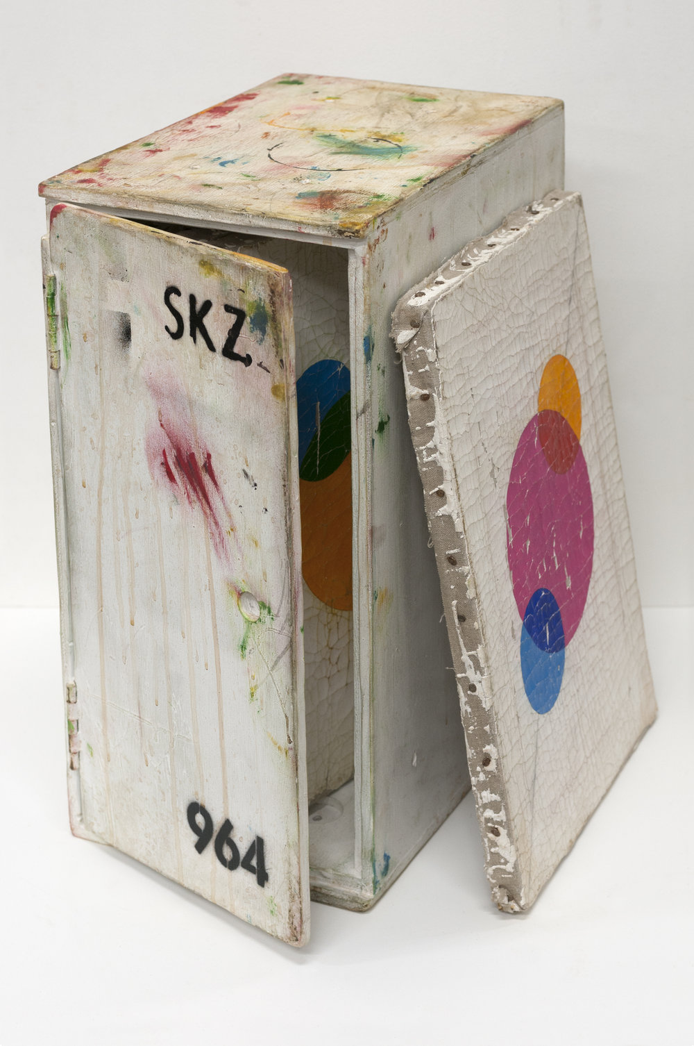 SKZ Student Painting Storage Box Number 964, 2018 paint on plywood 50 x 25 x 26 cm 19 11/16 x 9 27/32 x 14 3/16 inches