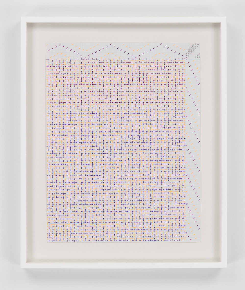 Shadow Weave Draft, 2013  pencil on paper  8 1/2 x 11 in (21,6 x 27,9 cm)  Framed : 11 1/2 x 13 3/4 in (29,2 x 34,9 cm)