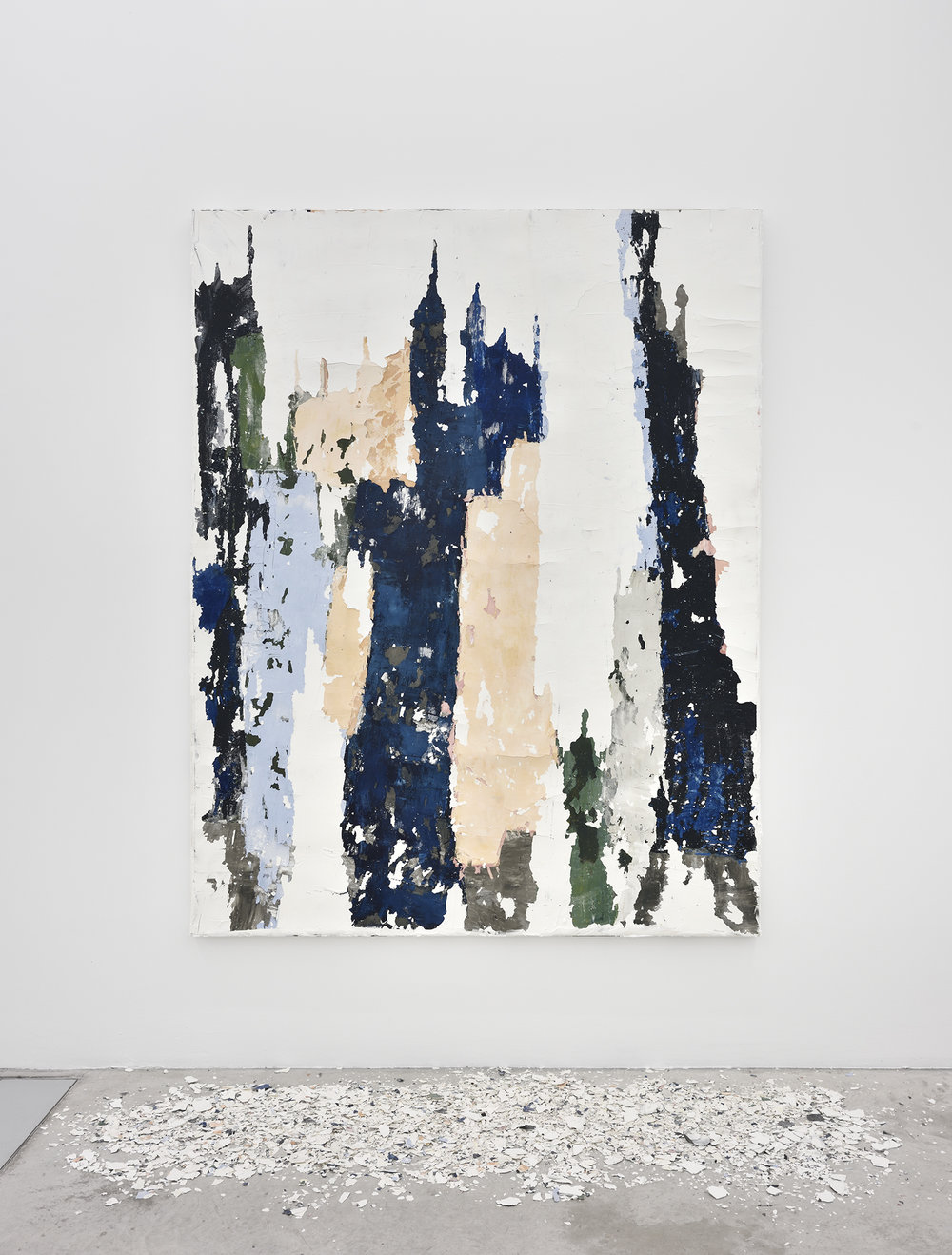 Manoela Medeiros  Ruine , 2018 paint, plaster and fragments 185 x 145 x 3,5 cm