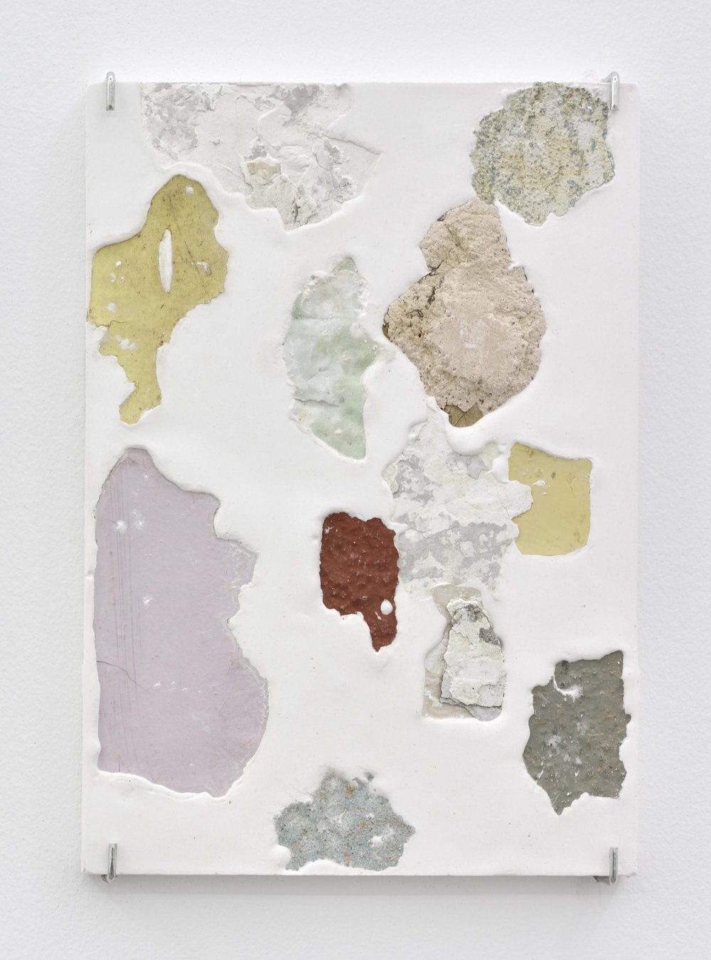 Manoela Medeiros  Continent,  2018 Plaster and fragments of walls 30 x 21 x 2,5 cm 11 13/16 x 8 9/32 x 1 inches