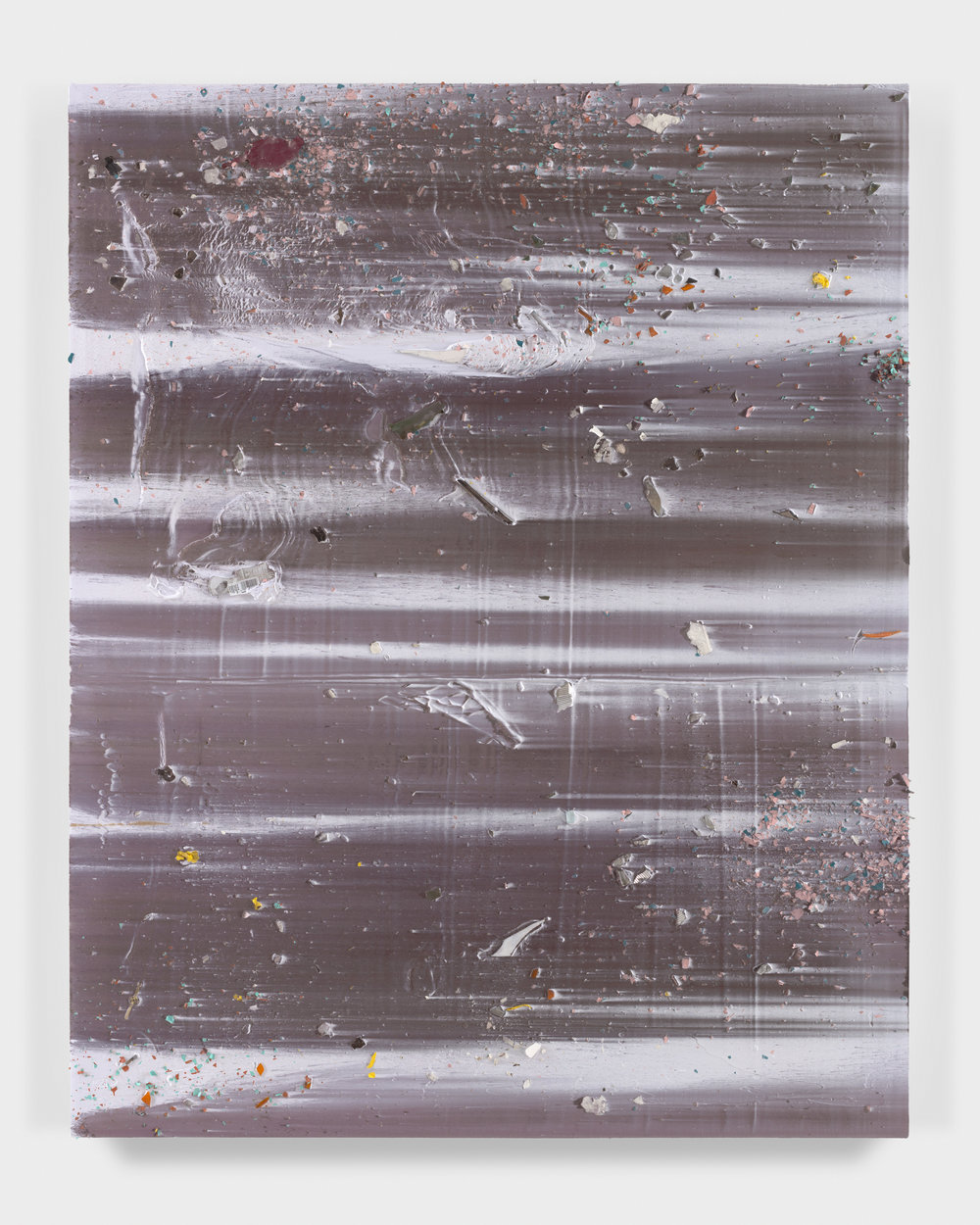 Untitled , 2017 mixed media on canvas 64 x 51 in - (162,6 x 129,5 cm)