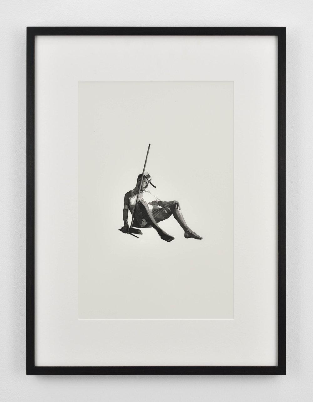 Fabien Mérelle  Ensommeillé  2017 ink and watercolor on paper 60 x 47,5 x 3,5 cm 23 5/8 x 18 11/16 x 1 3/8 inches