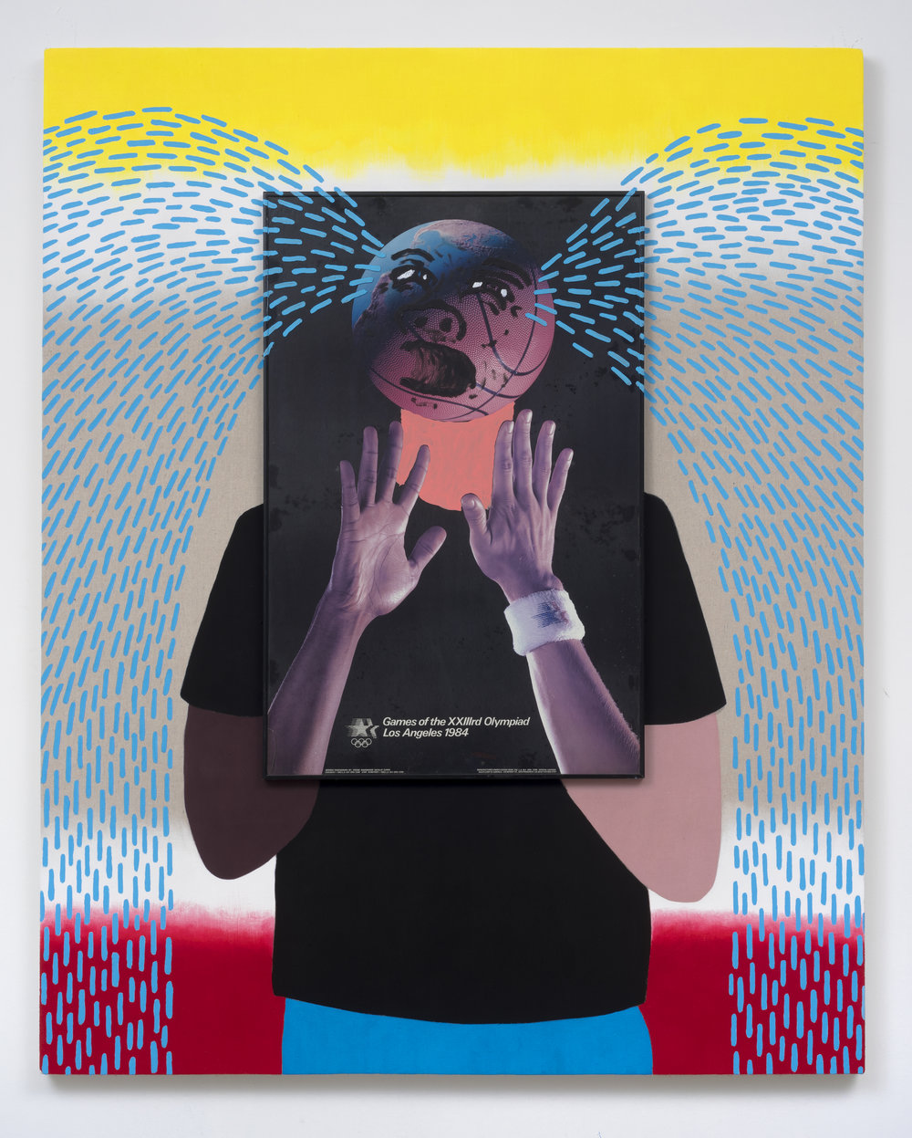Crybaby / World Gone Mad, 2015 framed image, acrylic, canvas, wood, hardware 152,4 x 122 cm - 60 x 48 inches