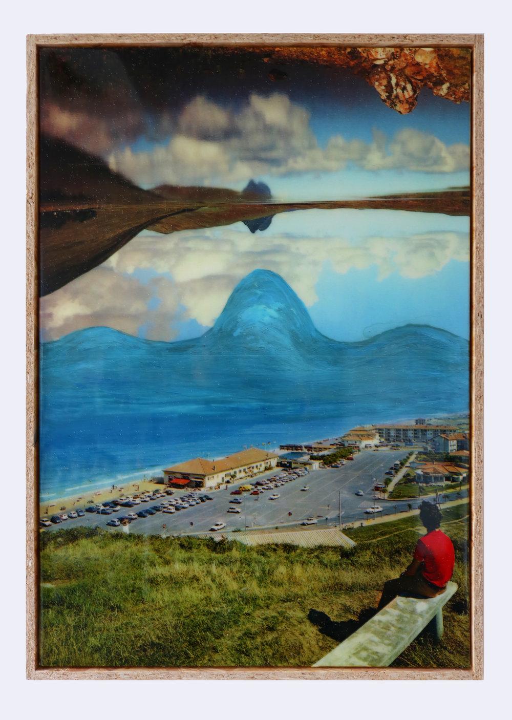Pierre Ardouvin  L'inquiétude des jours heureux 12 , 2017 print on canvas, resin, glitter 37 25/32 x 26 25/32 x 1 25/32 in (96 x 68 x 4,5 cm)