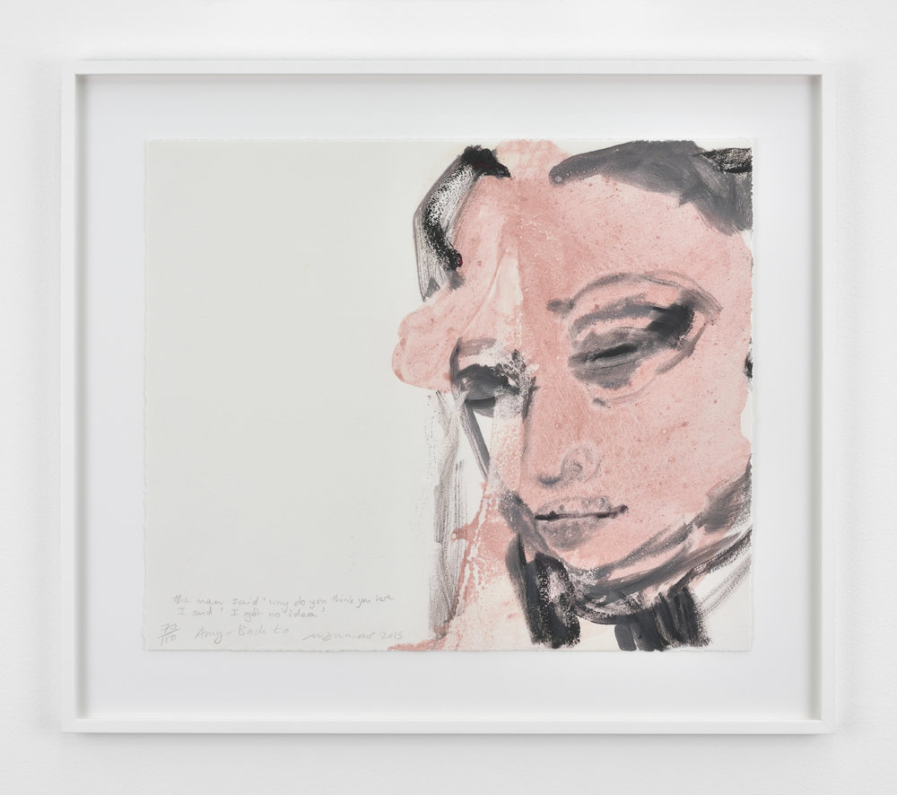 Marlene Dumas The man said 'why do you think you here'. I said 'I got no idea', 2015 color lithograph 20 7/8 x 23 7/16 in (53 x 59,5 cm) Edition of 160