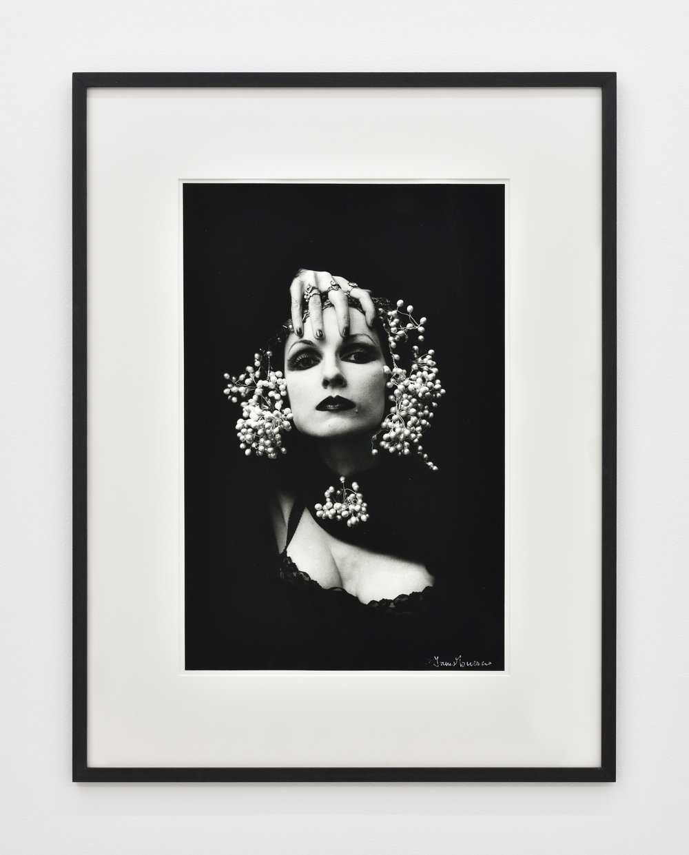 Irina Ionesco Front page, 1978 gelatin silver print 30 1/8 x 23 1/32 in (76,5 x 58,5 cm) Edition of 8 Courtesy of Jocelyne Sauvard