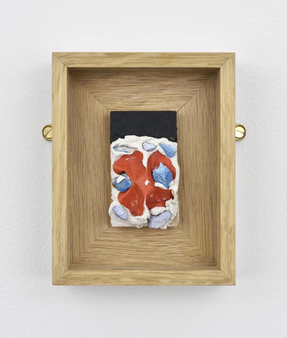 Niki de SAINT PHALLE Red 3, 1961 paint, plaster, red paper on isorel 4 23/32 x 3 3/4 x 1 5/16 in (12 x 9,5 x 3,3 cm) Courtesy : Niki Charitable Art Foundation et Galerie GP&N Vallois, Paris