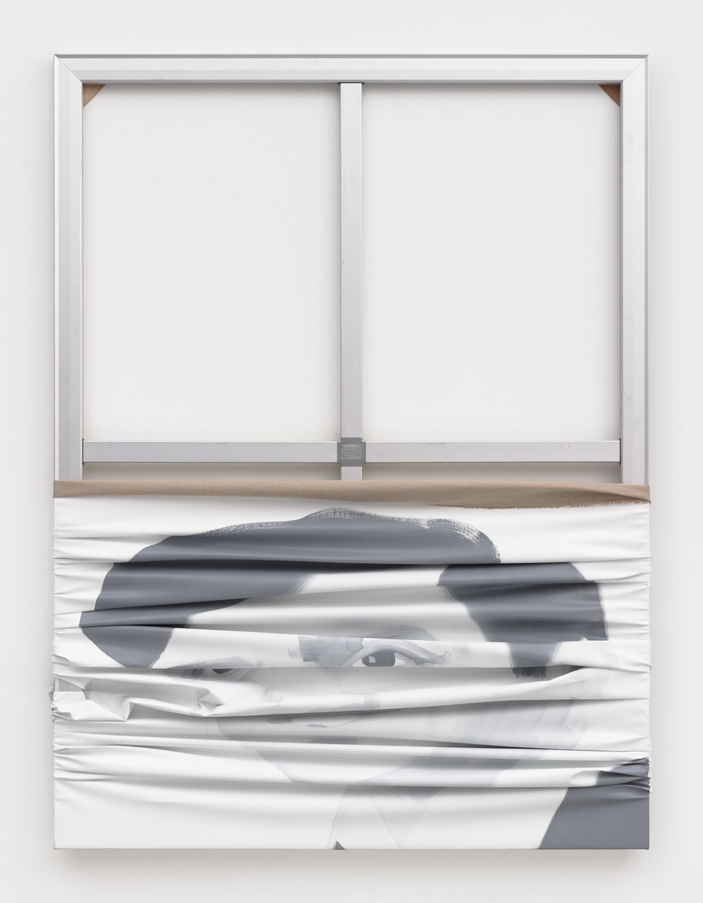 Ahmad, 2018 oil on canvas and aluminium 182,9 x 137,2 cm - 72 x 54 in