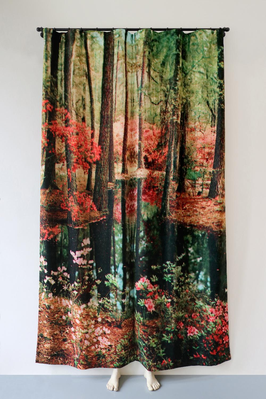 Pierre Ardouvin   The night is not over , 2018 Print on velvet, rod, fasteners, resin molding 260 x 120 x 40 cm - 102 3/8 x 47 1/4 x 15 3/4 in