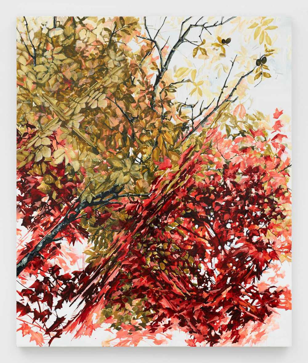 Kirsten Everberg   Walden/Walden Pond , 2018 oil and enamel on canvas over wood 72 x 60 in - 182,9 x 152,4 cm