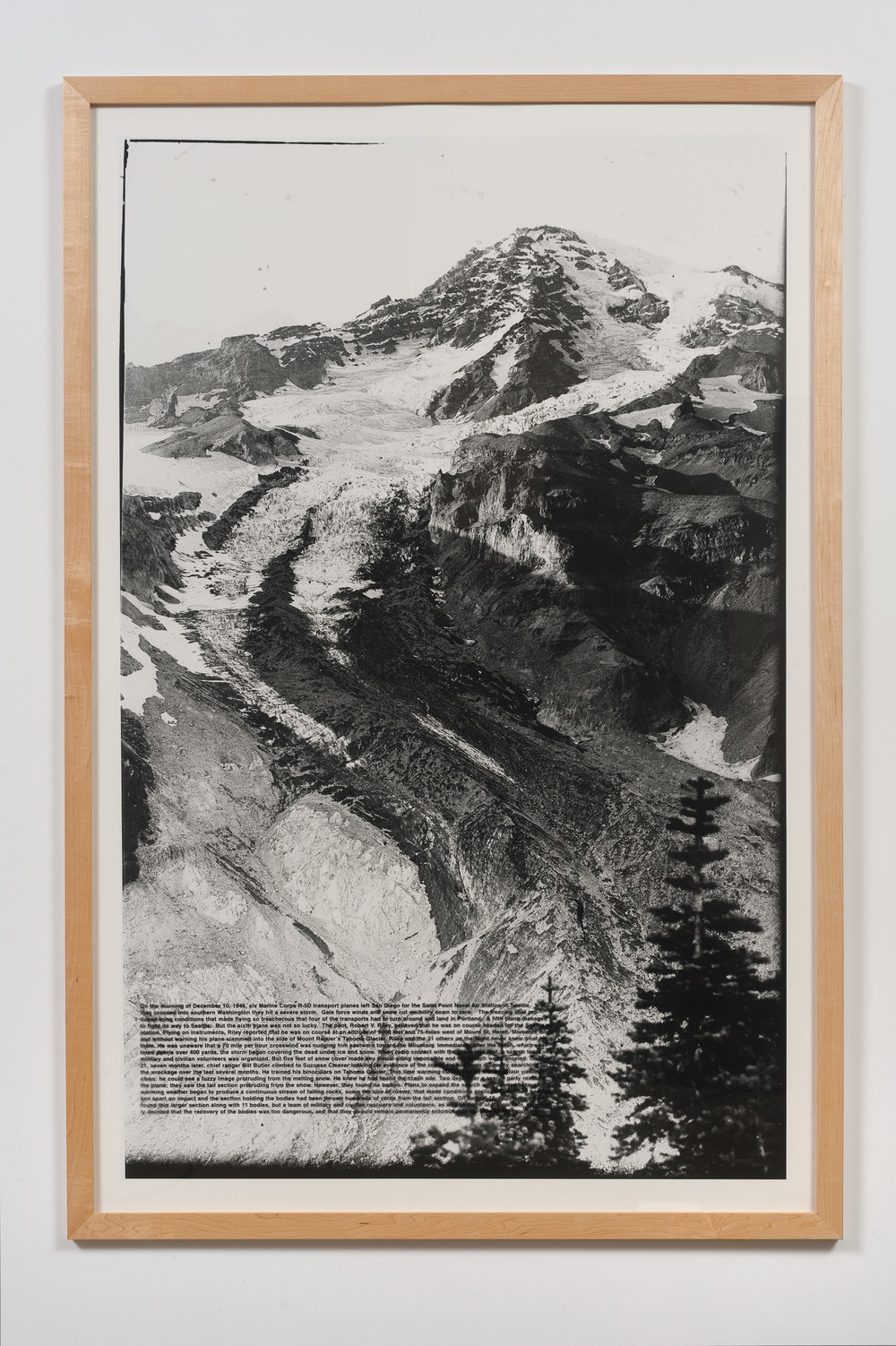 Charles Gaines   Absent Figures: Rainier, Version 2, Marine Transport Files , 2000 Photographs, silk screened text 70 1/8 x 46 7/8 x 7/8 in - 178,12 x 119,06 x 2,22 cm