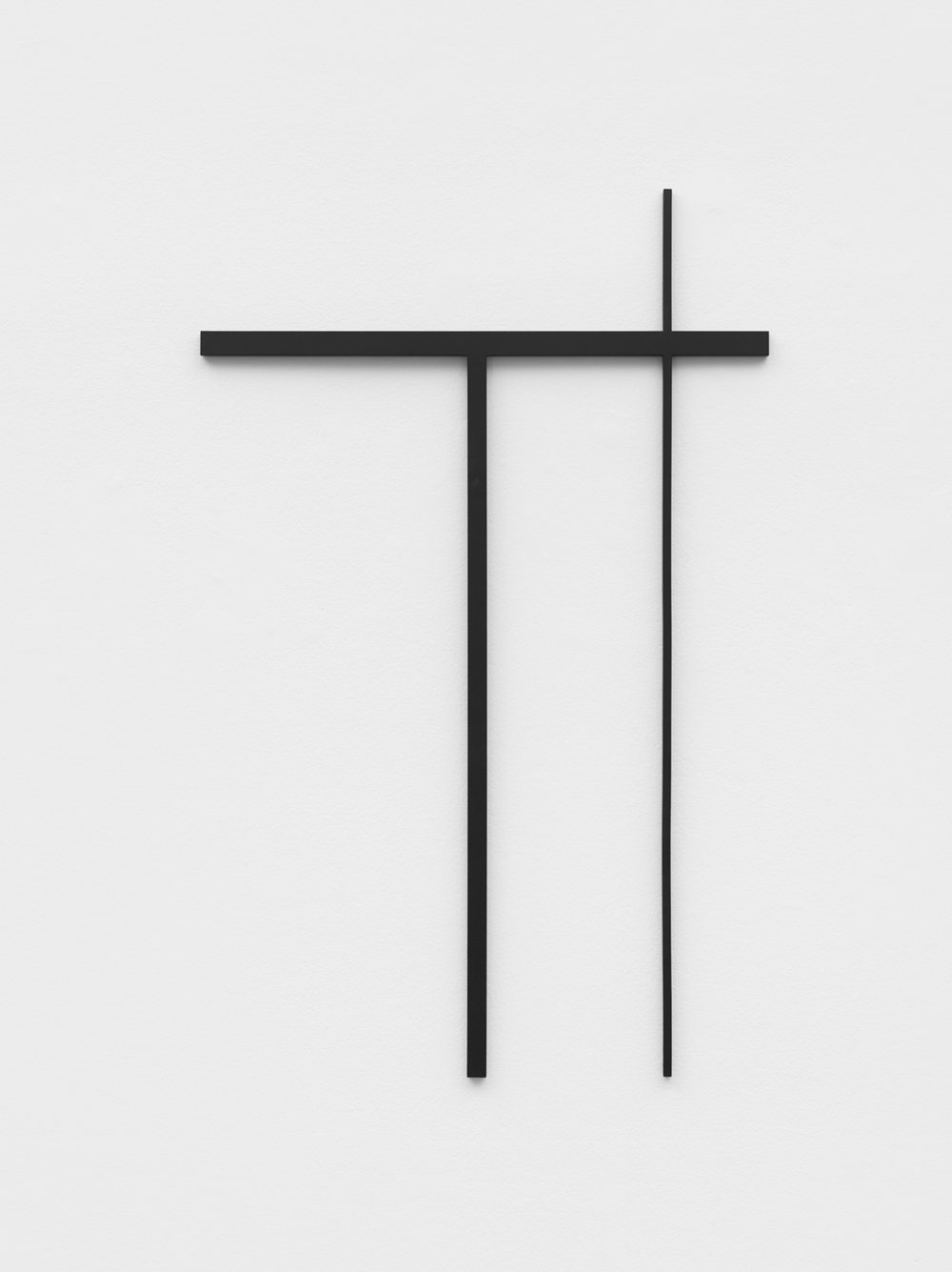 Philippe Decrauzat   Fragment after a sketch , 2018 steel, paint  63,4 x 98,7 cm - 25 x 38 7/8 in