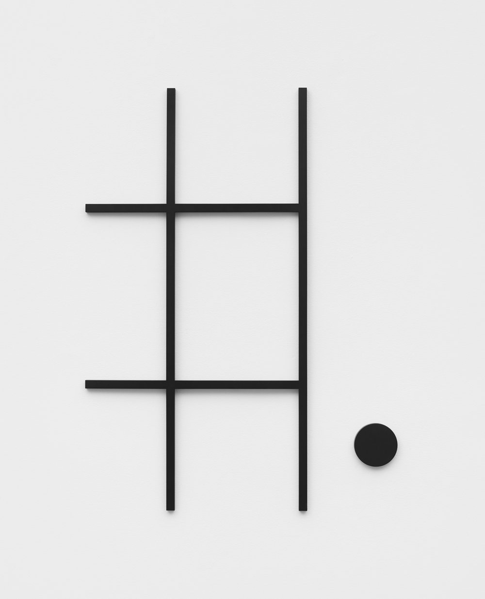 Philippe Decrauzat   Fragment after a sketch , 2018  steel, paint  73,4 x 98,2 cm - 28  x 38 5/8 in