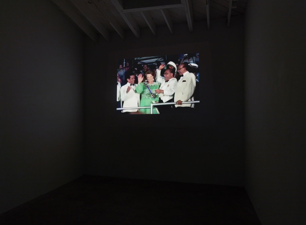 Ai Sranang , 2017 Digitized video montage, sound Duration 4:15 min (Installation view)