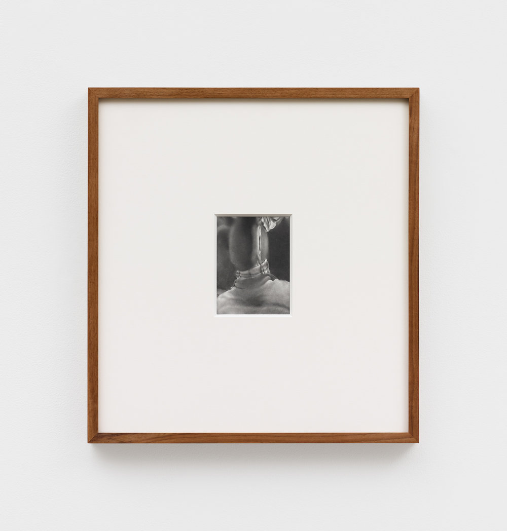 Untitled , 2019 graphite on paper 4 23/32 x 3 17/32 in (12 x 9 cm)