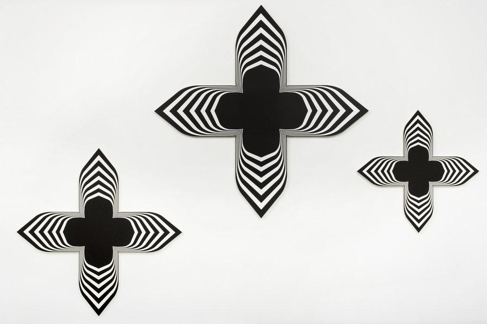 Untitled , 2008 Acrylic on canvas 198 x 198 cm; 155 x 155 cm; 113 x 113 cm (77 7/8 x 77 7/8 in; 61 x 61 in; 44 1/2 x 44 1/2 in)