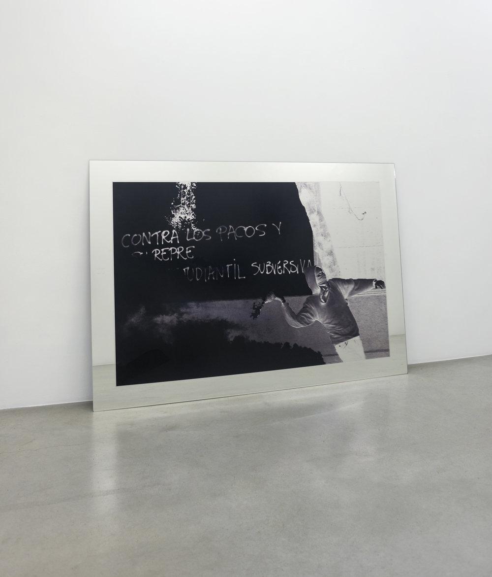 Santiago, Chile, circa 2008 , 2010 ilfochrome transparency on mirror 55 x 79 in - 139,7 x 200,7 cm