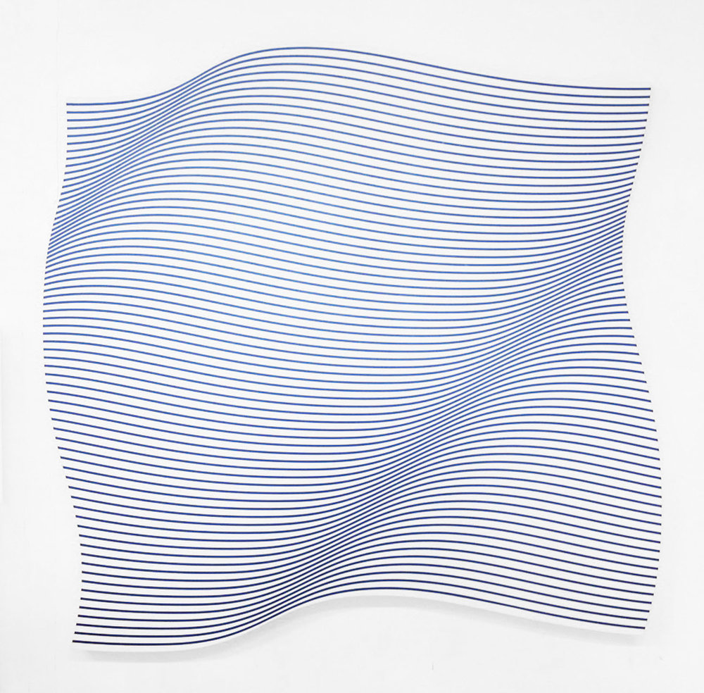 Flag Wave , 2016  Acrylic on canvas  114 x 111 cm - 44 7/8 x 43 11/16 in
