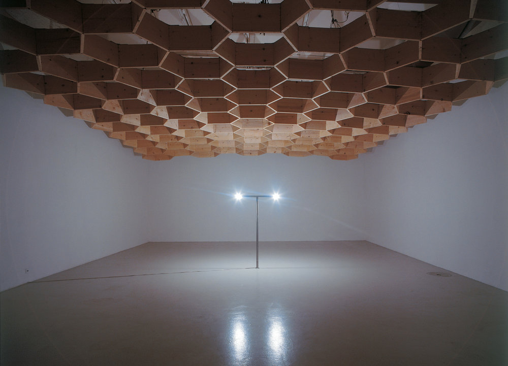 Light Space Modulator , 2002 light bulbs, metal structure Dimensions Variable