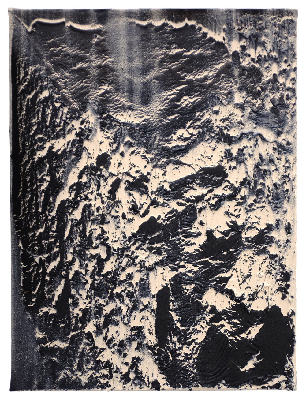 Thomas Fougeirol Collapsing Field, 2018 Mixed media on canvas 40 x 30 cm - 15 3/4 x 11 13/16 in