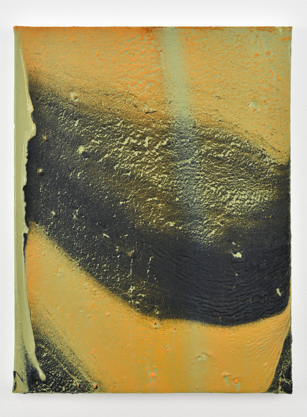Thomas Fougeirol Collapsing Field, 2018 Oil and pigment on canvas 40 x 30 cm - 15 3/4 x 11 3/4 in