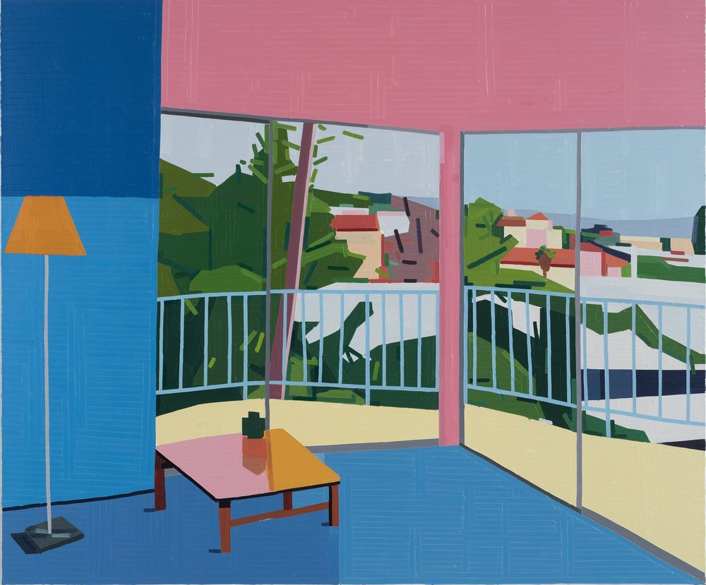 Guy Yanai Standard West Hollywood, 2019 Oil on canvas 59 1/16 x 70 7/8 in (150 x 180 cm)