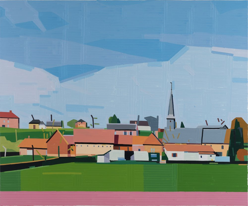 Guy Yanai Normandie, 2019 Oil on canvas 59 1/16 x 70 7/8 in (150 x 180 cm)
