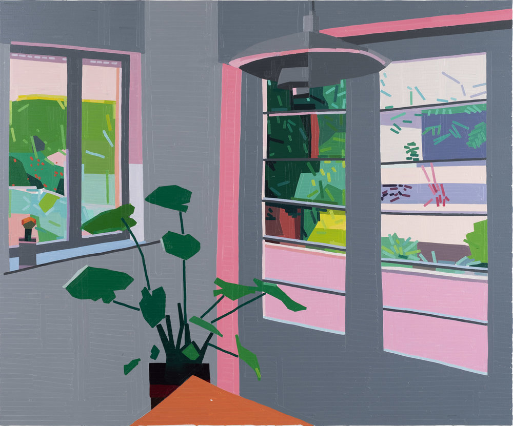 Guy Yanai The Dining Room, 2019 oil on canvas 59 1/16 x 70 7/8 in (150 x 180 cm)