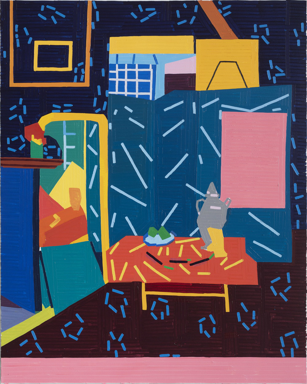 Guy Yanai Still Life with Aubergines II (after Matisse), 2019 oil on canvas (59 1/16 x 47 1/4 in) 150 x 120 cm