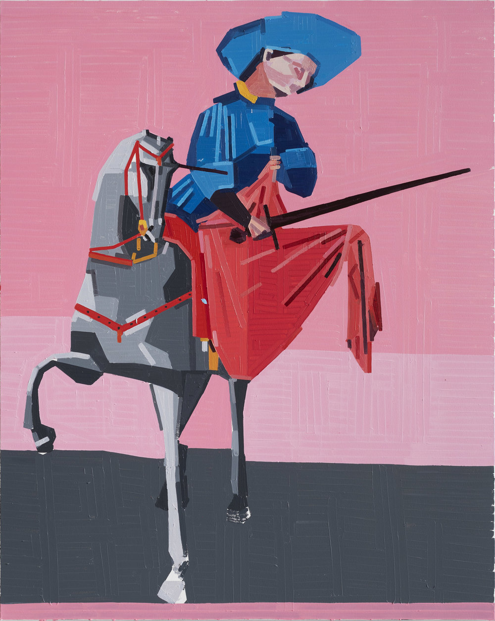 Guy Yanai Saint Martin and the Beggar (after Sassetta), 2019 Oil on canvas (59 1/16 x 47 1/4 in) 150 x 120 cm