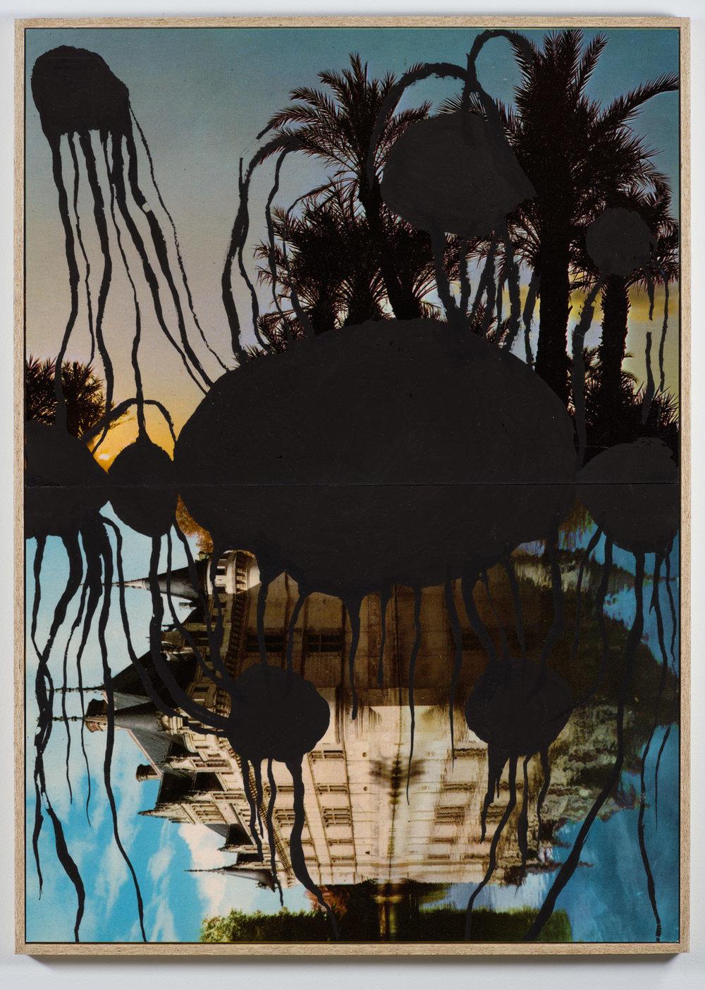 Pierre Ardouvin   Ecran de veille (Screensaver) , 2013 print on canvas, resin, glitter, chipboard framing  66 15/16 x 47 1/4 in(170 x 120 cm) PA13P6