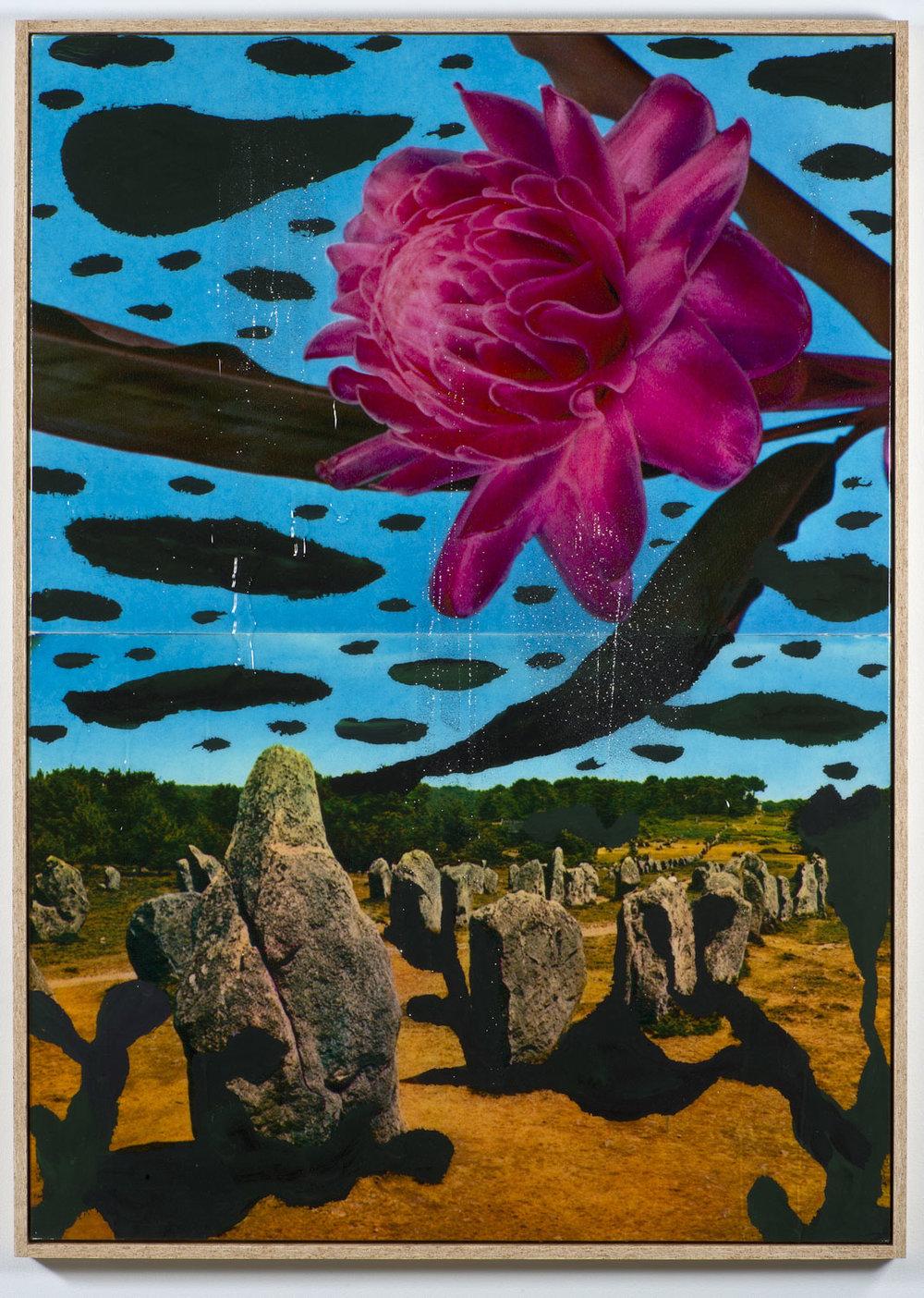 Pierre Ardouvin   Ecran de veille (Screensaver) , 2013 print on canvas, resin, glitter, chipboard framing  66 7/8 x 47 1/4 in (169,86 x 120,02 cm) PA13P2