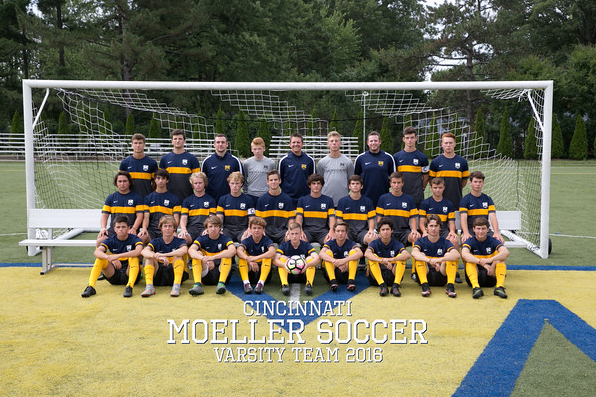 Moeller's 2016 varsity soccer squad. Photo by SmugMug.
