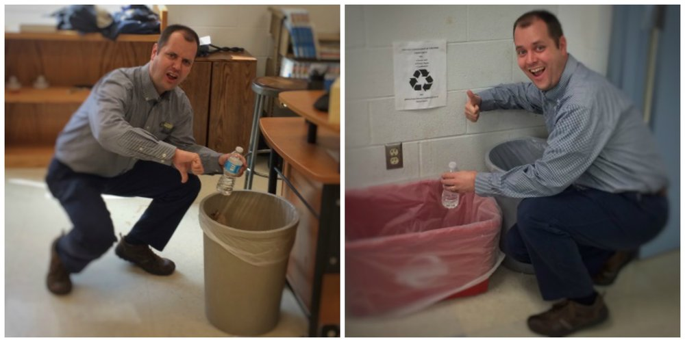 Mr. Shaffer does his part to help combat climate change (photos by Cam Carlin)