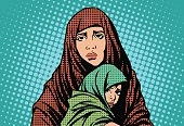 A refugee mother with her child (image from pixabay.com)