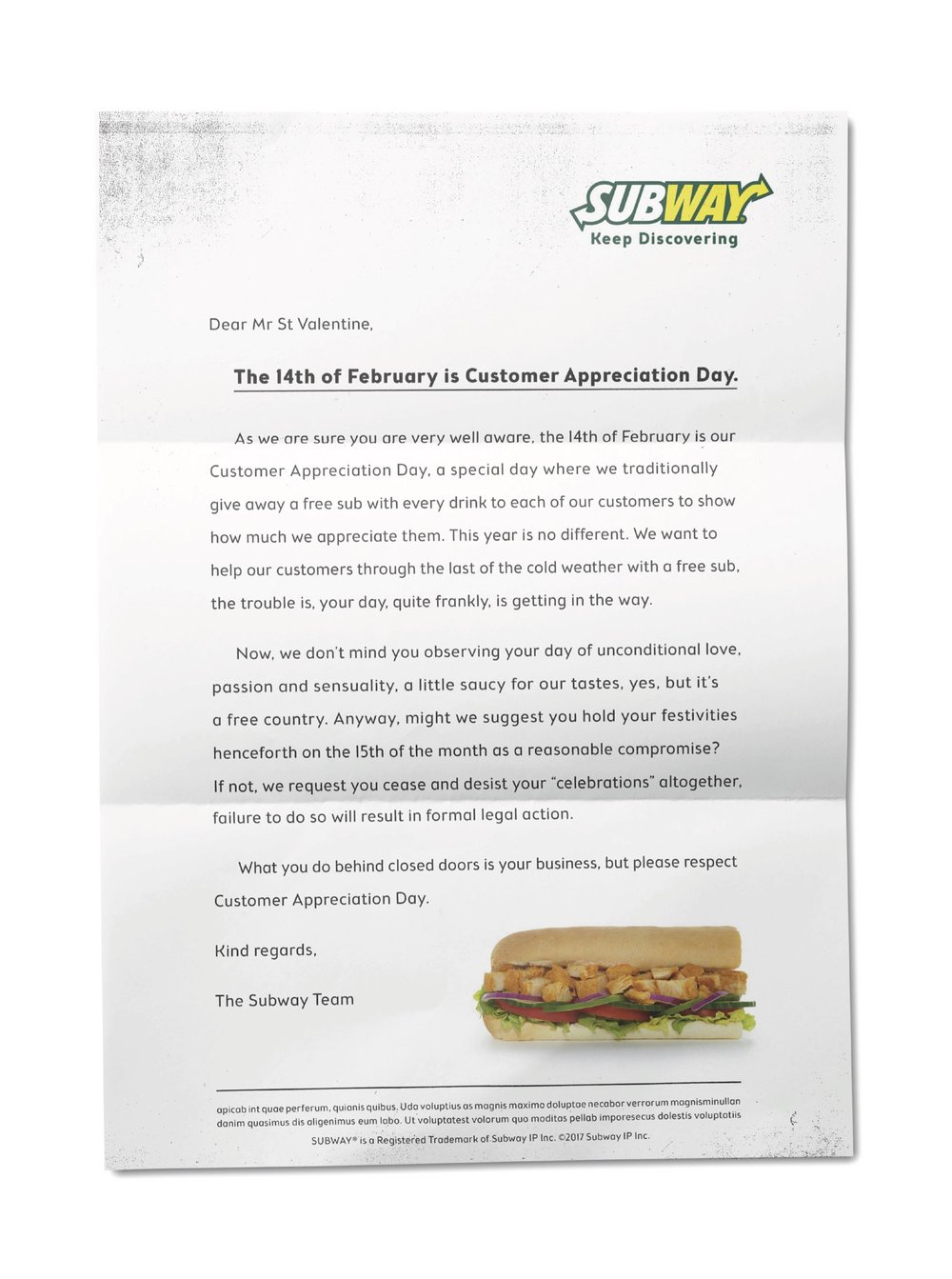 Subway CAD Letter
