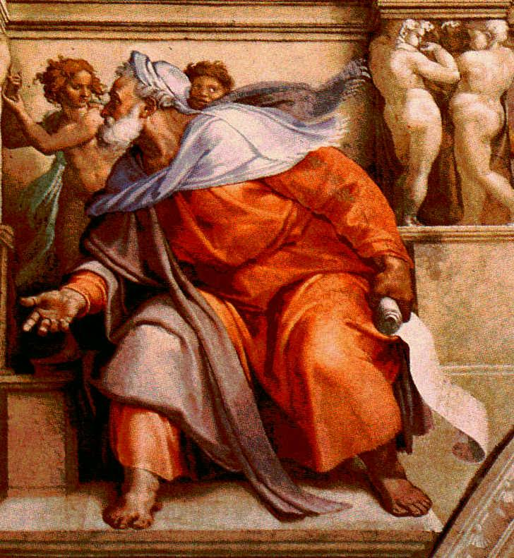 The prophet, Ezechiel, by Michelangelo