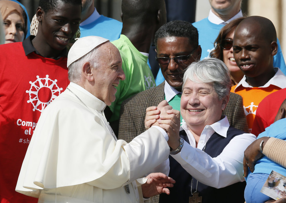Sister Norma  and  Pope Francis,  featured in America Magazine, September 28, 2017