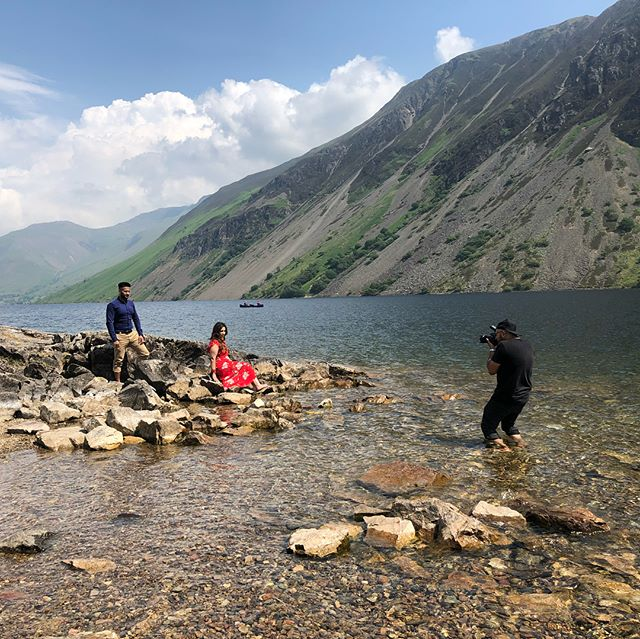 Here's a few behind the scenes shots my lighting assistant kindly took during a weekend of a couple of prewed shoots. . #prewed #engagementshoot #engagement #weddingphotographer #photography #lakedistrict #kreativeklicks . www.kreativeklicks.co.uk info@kreativeklicks.co.uk 07931 535 430