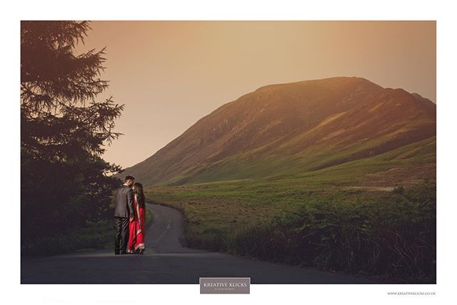 Here's another from 1 of last weekends prewed shoot. This time, a shot during the sunset. . #weddingphotographer prewedshoot #prewed #engagement #weddingphotography #sunset #sunsetphoto #hills #mountains #lushgreens #lake #lakedistrict #trees #sheep #goats #countrylife #reflection #clearwater #nofilter #cumbriashoot #kiss #saree #warmglow #summerweather #nikon #kreativeklicks . www.kreativeklicks.co.uk info@kreativeklicks.co.uk 07931 535 430