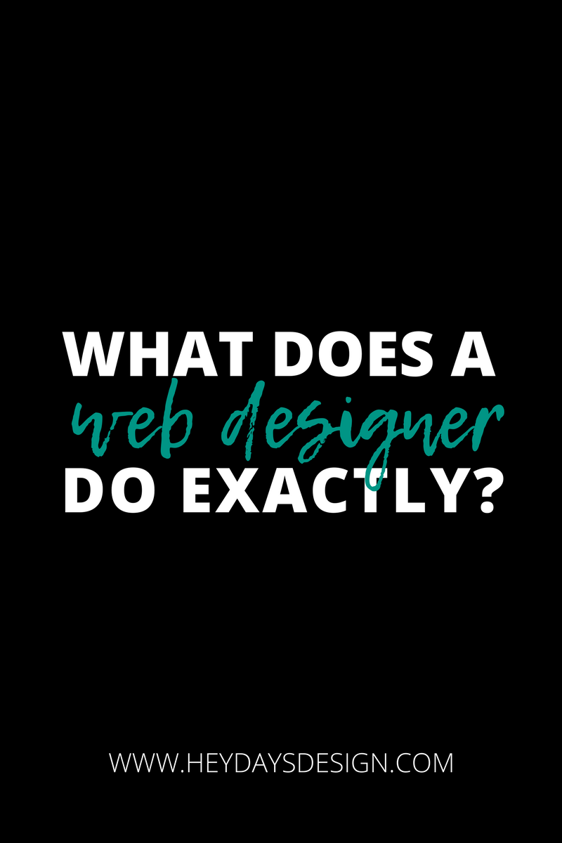 What Does a Web Designer Do?