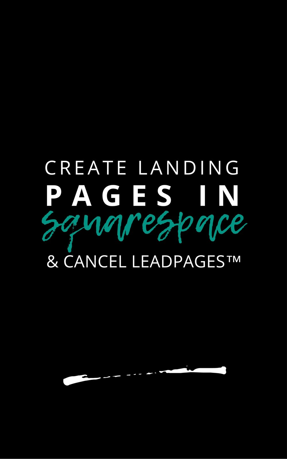 Learn How Simple Squarespace Hacks To Create Landing Pages in Squarespace without Leadpages with Heydays Design.