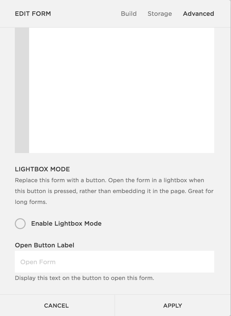 Lightbox Mode Squarespace