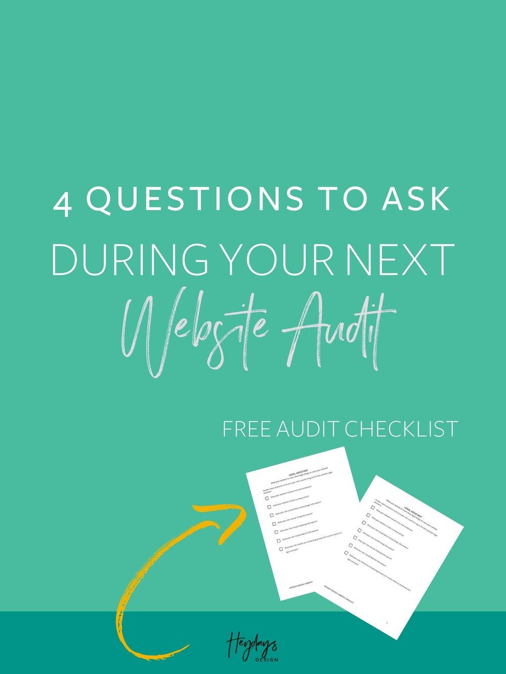 Download a website audit checklist to use when you are auditing your website l Website Audit Template l Heydays Design