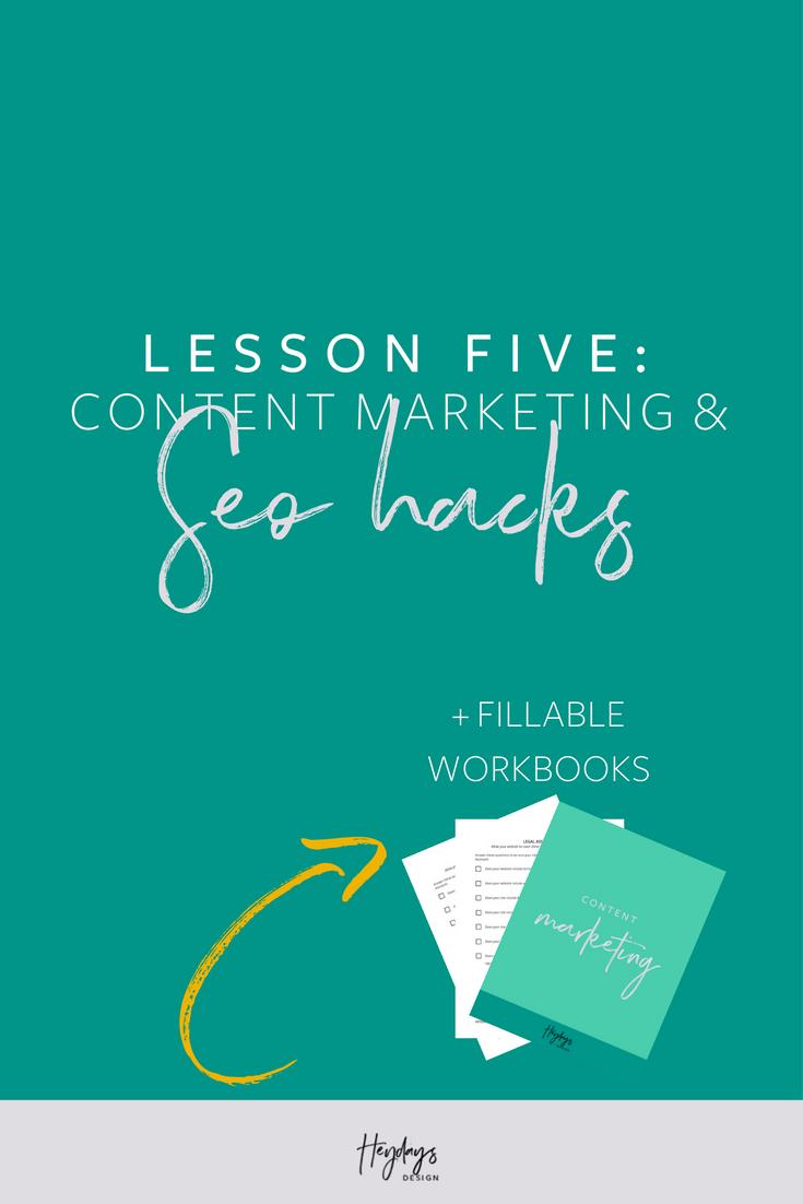 Lesson 5 Content Marketing SEO