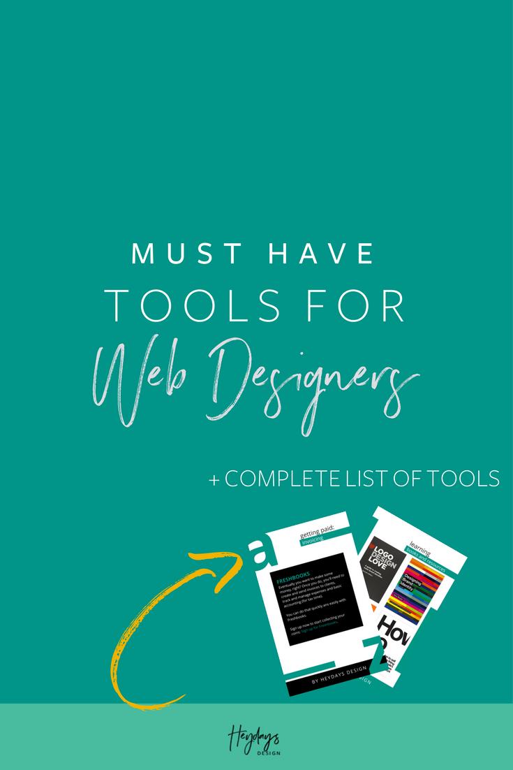 Web Design Tools for Beginners l Heydays Design l Web Designer l San Diego, CA