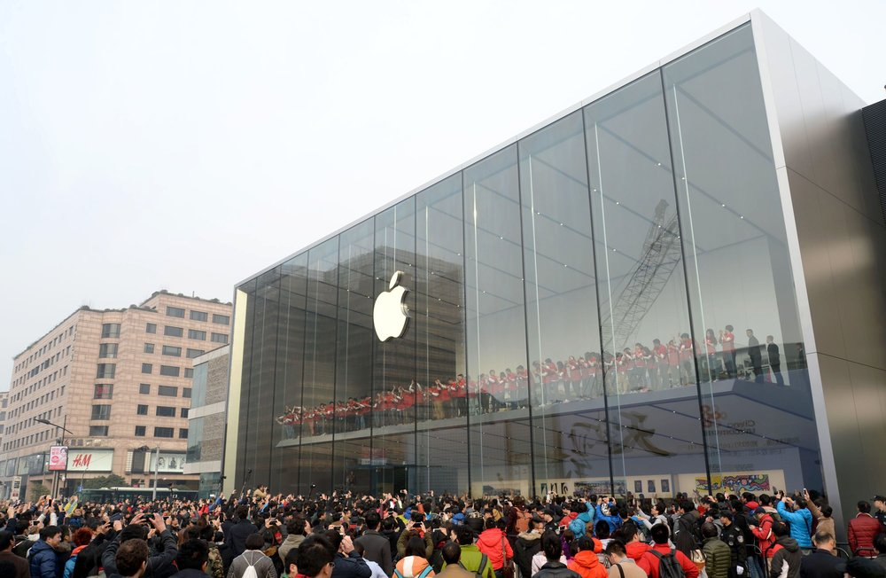 Apple has long been known as a company and brand that has inspired loyalty and trust beyond measure; exemplified by the furoar around its store openings, like this one in China