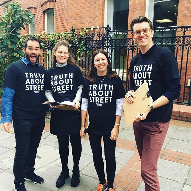 We had so much fun on Tuesday! Can't wait to see the results of @mccann_ww's #truthaboutstreet project