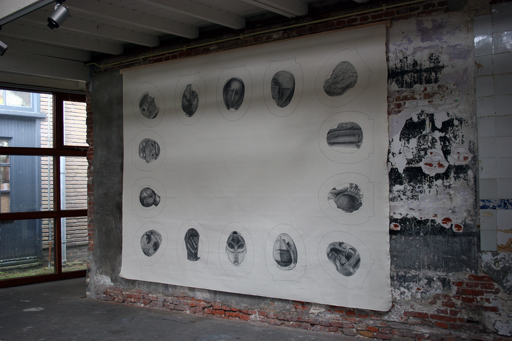 Diagram in Homage to Artist Substance II , pencil on canvas 200 x 270 cm
