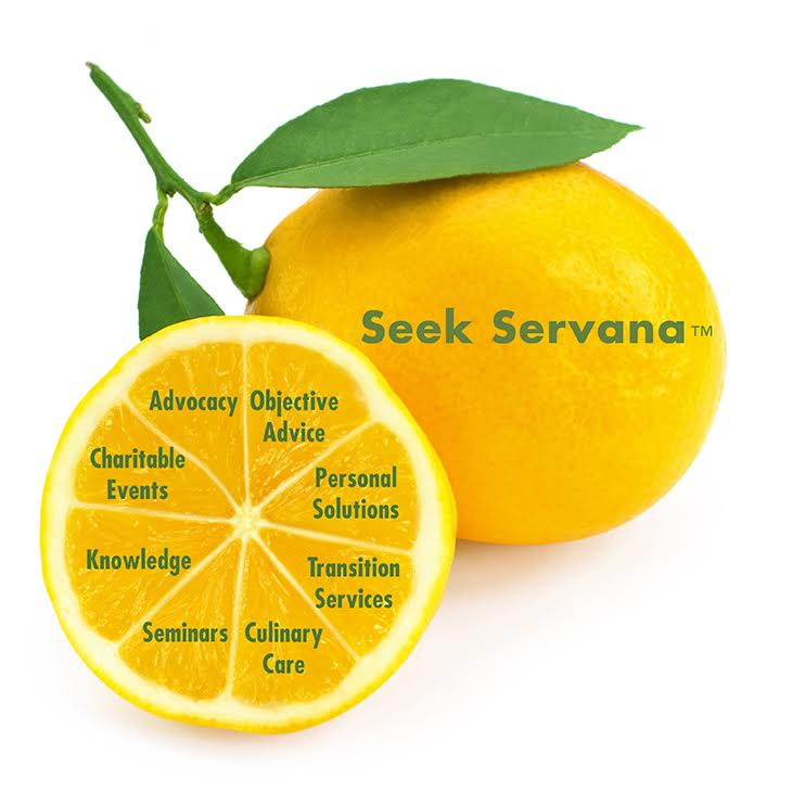 Seek Servana  - Objective Advice Personal SolutionsTransition ServicesCulinary CareSeminarsKnowledgeCharitable EventsAdvocacy